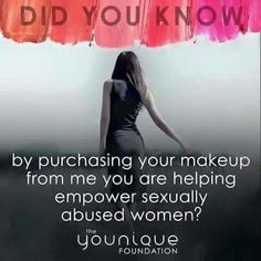 Each purchase means your helping sexually abused woman and their families! Your helping them believe in themselves again. To love themselves. #somuchmorethanmascara #somuchmorethanmakeup #theyouniquefoundation #defendinnocence #empowering #uplifting #validating #donate #abuse #woman #globally #loveyourself