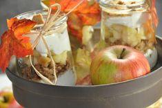 Apfel Spekulatius Dessert im Glas