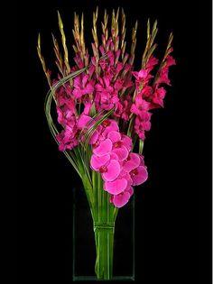 Hot Pink Gladiola Flower Arrangement - Gorgeous!