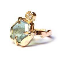 Groene bosring   Verkochte items - Zilver & Goud   Nadine Kieft Jewelry Webshop