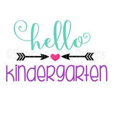 Hello kindergarten school SVG DXF instant download design for cricut or silhouette by SSDesignsStudio on Etsy https://www.etsy.com/listing/467447387/hello-kindergarten-school-svg-dxf