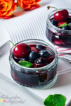 Aleksandra's Recipes: Summer fruits in Earl-Grey-Lemon syrup