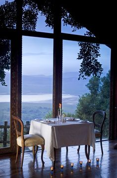 Dining Room - Ngorongoro Crater Lodge, Ngorongoro Crater, Tanzania