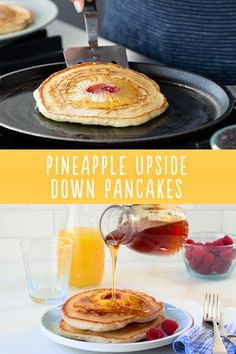 Nobody gets the short stack when you're serving Dole Pineapple Upside Down Pancakes....