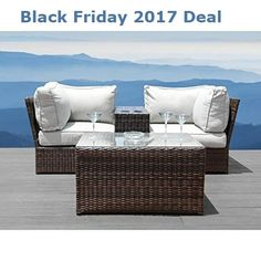 Chic Winsford 4 Piece Sectional Seating Group with Cushions by Rosecliff Heights Patio Garden Furniture from top store Living Room Furniture, Furniture Sets, Home Furniture, Furniture Design, Outdoor Furniture, Furniture Price, Garden Furniture, Modern Furniture, Outdoor Seating