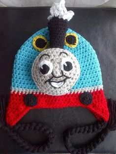 Crochet Thomas the Train Hat Pattern