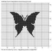 Free Filet Crochet Charts and Patterns: Butterfly Filet Crochet - Charts 7-9