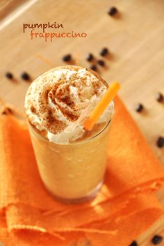 Pumpkin Frappuccino! by the Minimalist Baker...I must try!  Andrew loves pumpkin and I love all things coffee so it's a match made in heaven!