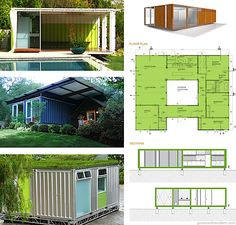 Recycled Shipping Container Dwellings by IC Green — Grassrootsmodern com Shipping Container Buildings, Shipping Container Design, Container House Design, Shipping Containers, Building A Container Home, Storage Container Homes, Cargo Container, Prefab Homes, Modular Homes