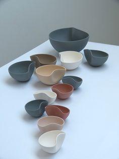 Ceramic Tableware, Ceramic Bowls, Ceramic Art, Diy Clay, Clay Crafts, Pottery Bowls, Ceramic Pottery, Keramik Design, Sculptures Céramiques