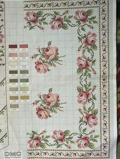 This Pin was discovered by Ewa Xmas Cross Stitch, Cross Stitch Pillow, Cross Stitch Borders, Cross Stitch Rose, Cross Stitch Baby, Cross Stitch Flowers, Cross Stitch Designs, Cross Stitching, Cross Stitch Embroidery
