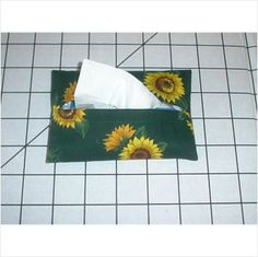 Purse / Pocket Size Tissue Cover - Sunflower