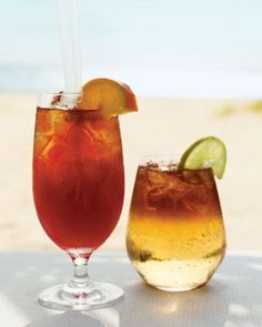 Signature Cocktails- These rum-based drinks, the Hurricane and the Dark and Stormy, may be named after bad weather, but they are perfectly suited for a seaside wedding. Seaside Wedding, Beach Wedding Favors, Nautical Wedding, Party Drinks, Cocktail Drinks, Cocktails, Emerald Bay Bahamas, Sandals Emerald Bay, Dark & Stormy