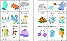 Dit woordweb in het thema winter kun je downloaden op de website van Juf Milou.