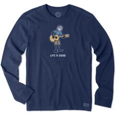 Men's Jake Guitar Long Sleeve Crusher Tee