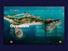 Overview - Ocean Cay by Marco Fasoli on Dribbble Web Ui Design, Brochure Design, Design Design, Booklet Design, Flat Design, Graphic Design, Website Design Inspiration, Web Layout, Layout Design
