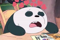 Panda Love, Panda Bear, We Bare Bears Wallpapers, Doodle Cartoon, We Bear, Sad Wallpaper, Love Memes, Cute Bears, Cute Cartoon Wallpapers