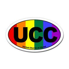 ucc_rainbow Sticker (Oval) UCC United Church of Christ Rainbow Euro Sticker by UCC Euro Style - Rainbow - CafePress United Church Of Christ, Christian Women, Faith Quotes, Fairview Heights, Christianity, Religion, Spirituality, The Unit, Lgbt Community