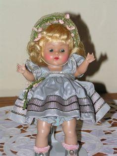"STRUNG VOGUE GINNY DOLL 1953 ""CHERYL"", COMPLETE Factory Doll CRISP #VOGUE #VOGUE1950SSTRUNGHPGINNYDOLL"