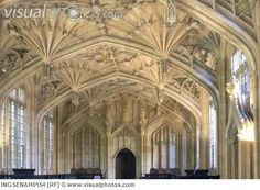 Bodleian library interior and ceiling oxford england