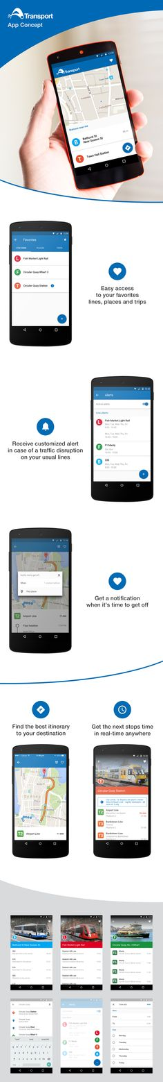 """Check out new work on my @Behance portfolio: """"Concept - NSW Transport mobile app"""" http://on.be.net/1GJh8M2"""