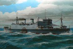 Buque de desembarco Shinshu Maru 1935, hundido en el Estrecho de Formosa 1945