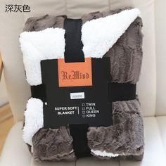 清仓包邮外贸冬季双层毛毯欧式长毛毛羊羔绒单人加厚保暖装饰毯子