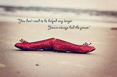 Zapatillas rojas...