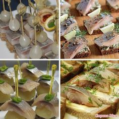 New Year's ideas for a buffet table! Beautiful and delicious! Ukrainian Recipes, Russian Recipes, Food Carving, Tea Sandwiches, Cook At Home, Appetisers, Appetizers For Party, Food And Drink, Cooking Recipes
