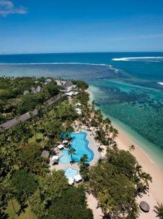 Aerial view of the beautiful Shangri-La's Fijian Resort #fiji #travel #islands
