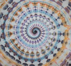 Ice Dye Tie Dye Super Spiral Tapestry by OtdelMaljaraTieDye