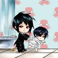 anime love chibi       Kuroshitsuji Manga Reading from Chapter 1 to 97 http://www.mangaeden.com/en-manga/kuroshitsuji/     Watch in English Kuroshitsuji S1 (Black Butler)   Season 1& 2 http://dubbedanime.net/anime/black-butler-english-dubbed   OVA's  http://www.funniermoments.com/tag.php?t=black-butler