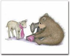 """""""Gruffies - Wool Sew For Friend"""" from House-Mouse Designs® House Mouse Stamps, Bear Images, Kunst Poster, Tatty Teddy, Cat Birthday, Penny Black, Pattern Drawing, Cute Characters, Pet Birds"""