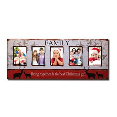 """Furnistars Decorative Painted Pine """"Family"""" Wall Hanging Picture Photo Frame"""