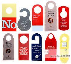 Do Not Disturb Plastic Door Knob Hanger Sign Female Names Ap-As Pink