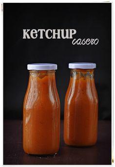 Ketchup casero {by Paula, Con las Zarpas en la Masa} Mexican Food Recipes, Vegan Recipes, Avocado Pasta, Deli Food, Canning Recipes, Chutney, Hot Sauce Bottles, Cupcake Cakes, Food And Drink