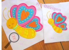 Free Spring Butterfly Applique