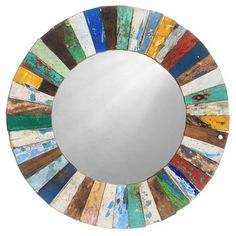 Mosaic Mirror Round now featured on Fab.
