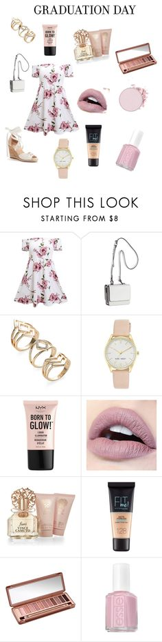 """Graduation Day"" by heyitsde ❤ liked on Polyvore featuring Kendall + Kylie, Nine West, NYX, Vince Camuto, Maybelline, Urban Decay and Essie"
