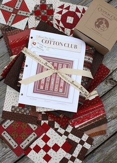 Cotton Club--darling brown and red blocks (Bonnie Blue of course)