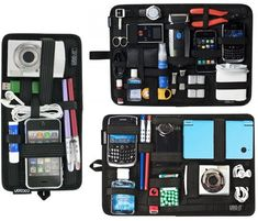 These are great! Check out the ones with e-reader/tablet pockets! Organizing gadgets for travel