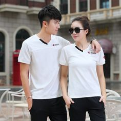 8e41f2aec9f1 Summer Couple Matching Gym Sports Suit Men Women Short Sleeve T Shirt with  Pants Matching Clothes