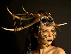 LARP costumeHorned Tribal Skull Mask from Diablo 3 Witch Doctor » LARP costume