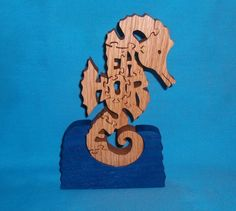 Seahorse Scroll Saw Wooden Puzzle