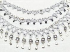 tatted beaded necklace