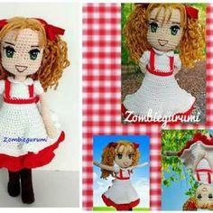 Patrón Muñeca Candy en amigurumi Crochet Doll Pattern, Crochet Dolls, Crochet Patterns, Patron Crochet, Amigurumi Doll, Sailor Moon, Teddy Bear, Toys, Animals