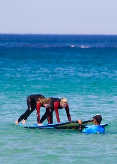 Michaela learning to surf in Sydney!