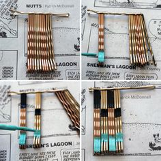 "How to Turn Bobby Pins into ""Polished"" Pendants via Brit + Co."