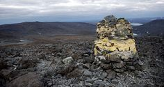 General view of the Halti mountain, on the Finnish and Norwegian borders, in…
