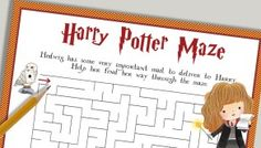 Free Printables to throw a magical Harry Potter Party - Lovely Planner Activity Sheets For Kids, Mazes For Kids, Printable Activities For Kids, Free Printables, Activity Days, Harry Potter Activities, Harry Potter Printables, Harry Potter Free, Harry Potter Birthday